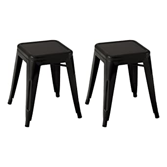 Norwood Commercial Furniture Tolix Style Metal Industrial Stack Stool Black NOR-IAH3021-  sc 1 st  Amazon.com & Amazon.com: Norwood Commercial Furniture Tolix Style Metal ... islam-shia.org