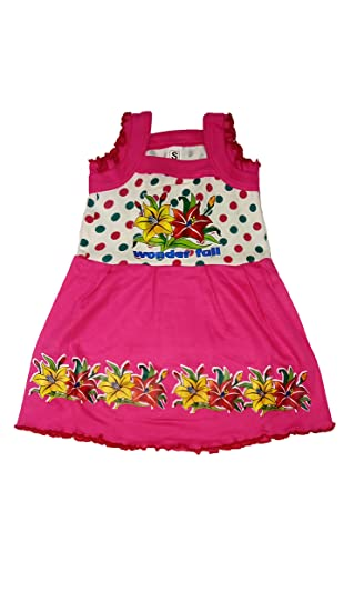ca1497607 SAF Baby Girl S Printed Cotton Frock Dress