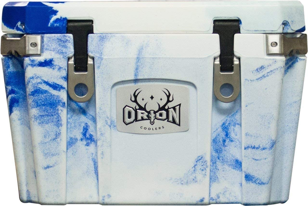 Orion 35 Quart Heavy Duty Premium Cooler, Durable Insulated Outdoor Ice Chest for Maximum Cold Retention – Portable, Bear Resistant, and Long Lasting, Great for Hunting, Fishing, Camping Sky