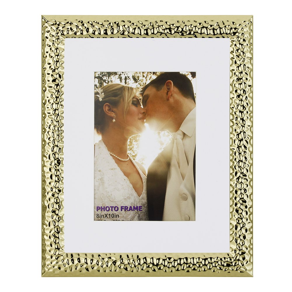 Steel RPJC 4x6 Picture Frames Made of Metal and High Definition Glass for Table Top Display Photo Frame Golden