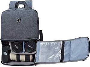 Abonnyc Camera Backpack DSLR SLR Camera Bag with Rain Cover Mirrorless Camera Video Camcorder Bags DSLR Backpack