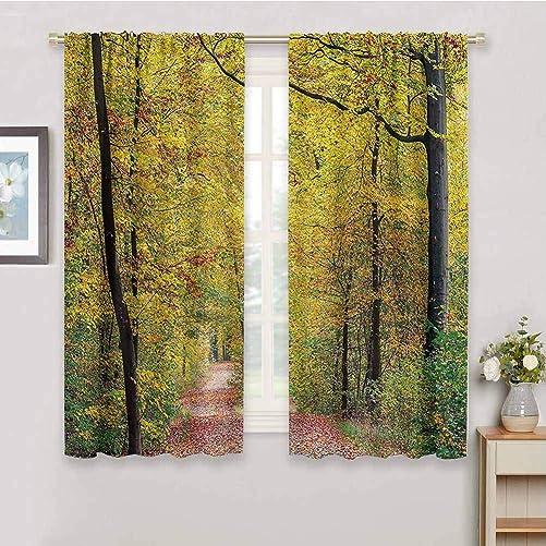 Tree Decor Kitchen Curtain