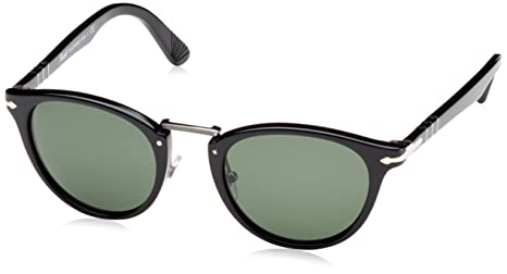 2ea1520354 Image Unavailable. Image not available for. Colour  Persol Men s PO3108S-95  31-49 Black Round Sunglasses