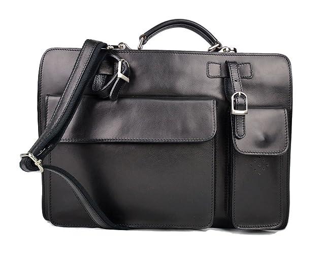 Cartella pelle uomo donna valigetta 24 ore borsa pelle a mano e tracolla borsa  ufficio borsa 2664a3e83d4