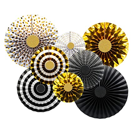 Amazon Com Kaxixi Party Hanging Paper Fans Decorations Wedding