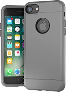 iPhone 7 Case, Hybrid Modern Slim Textured Grip Cell Phone Case for Apple iPhone 7 (2016) (Gray)