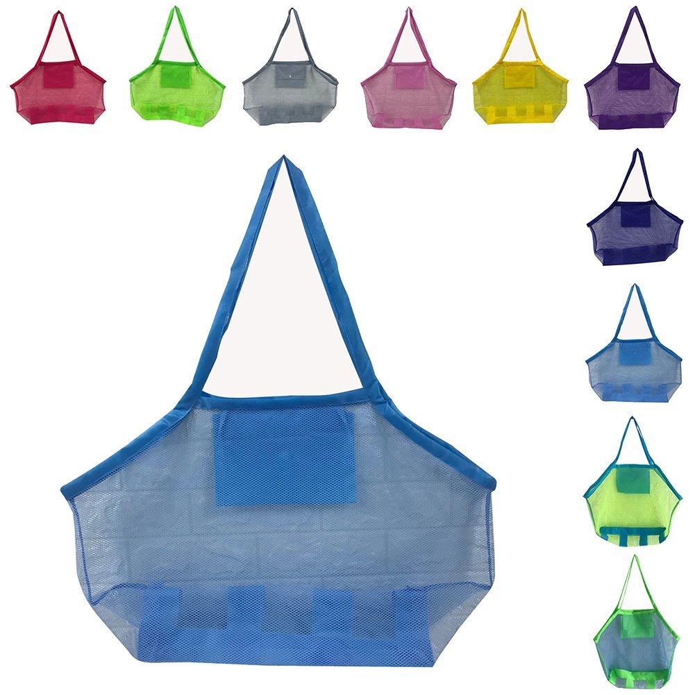 Peicees Large Mesh Beach Bag Sand Away Mesh Shoulder Tote Towels Toys Mesh Bag