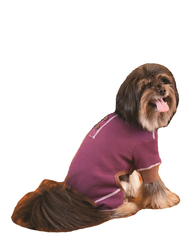 Fashion Pet Outdoor Dog Warm and Toasty Pajamas, Small, Plum 250054