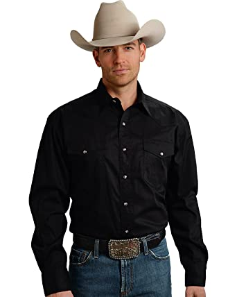 820bdded Roper Men's L/S Solid Basic Snap Front at Amazon Men's Clothing store: