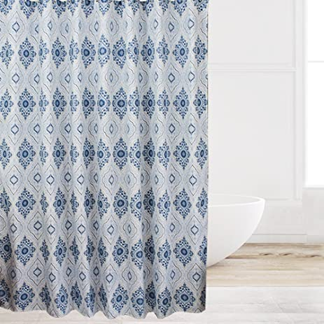 Eforcurtain 54 By 78 Inch Heavy Duty Waterproof Shower Curtain Paisley  Fabric Bath Stall Curtain