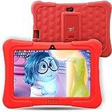 Dragon Touch Y88X Plus - Tablet Infantil de 7 Pulgadas ( SO Android Lollipop , 178° Vista Pantalla , 8G , Funda Alta Protección para Niños con Soporte ) Incluye Kidoz Versión Desbloqueada Pre-instalado , Rojo [ 2017 Modelo Nuevo ]