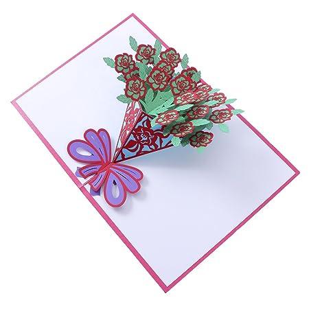SUPVOX Tarjeta 3D Tarjeta Pop Up Tarjeta de felicitación ...