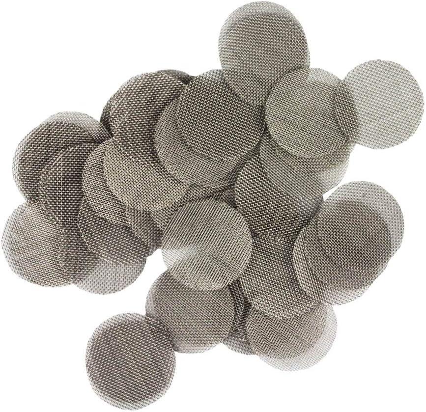 Weedness Tamices Bong Pipas Filtros 20 mm 100 Pieza - Sieve Metal Filtros para Fumar Accesorios Pipa Tabaco Piezas Cachimba