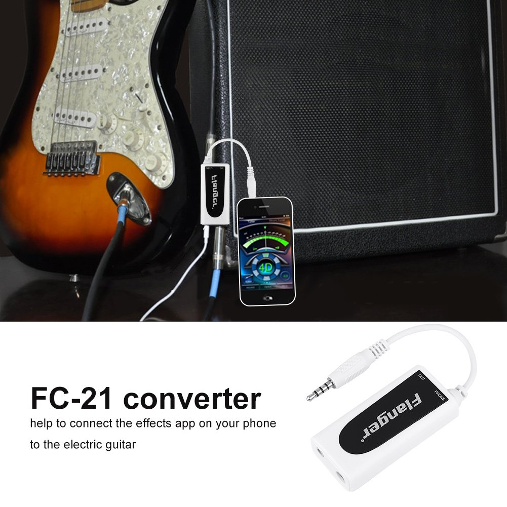 Audicom Guitar Interface Adapter Cable Converter For Most Android Cell Phone Headphone Jack Wiring Phones With 35mm