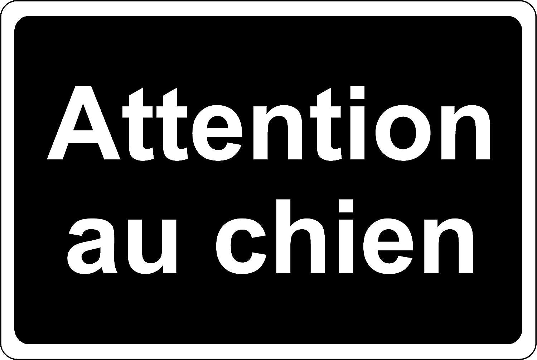 Panneau Attention au Chien Autocollant 200mm x 150mm B