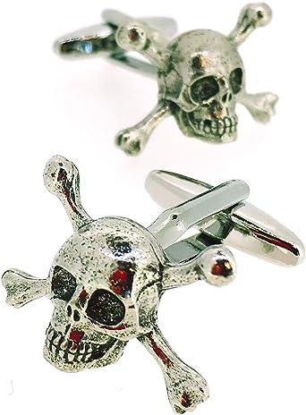 Gemelos para Camisa Calavera Skulls and Crossbones: Amazon.es: Ropa y accesorios