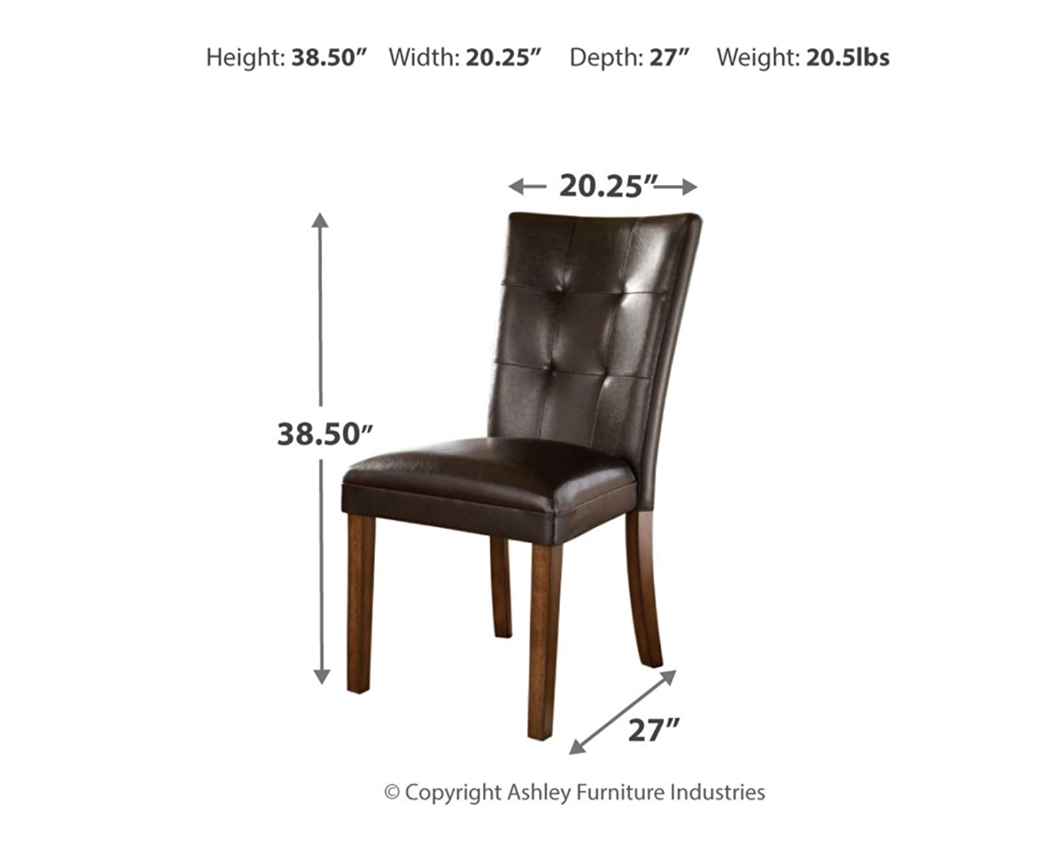 High Back Kimonte Dining Room Chair Set of 2 Ashley Furniture Signature Design Contemporary Ivory