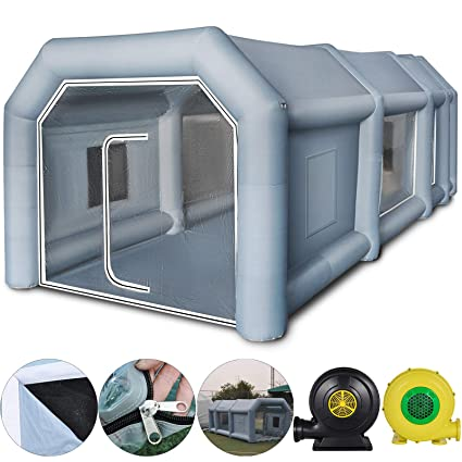 Portable Paint Booth >> Amazon Com Happybuy Inflatable Paint Booth 23x13x8ft With 2 Blowers