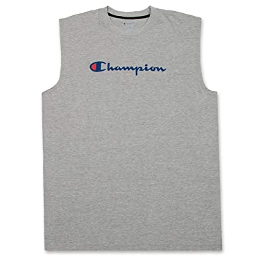 6ef149407b5f Champion Mens Big and Tall Jersey Muscle Tee with Script Champion Logo