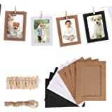 Party Propz Photo Banner with Clips (Black Colour with Wooden Clips 10 Pcs)