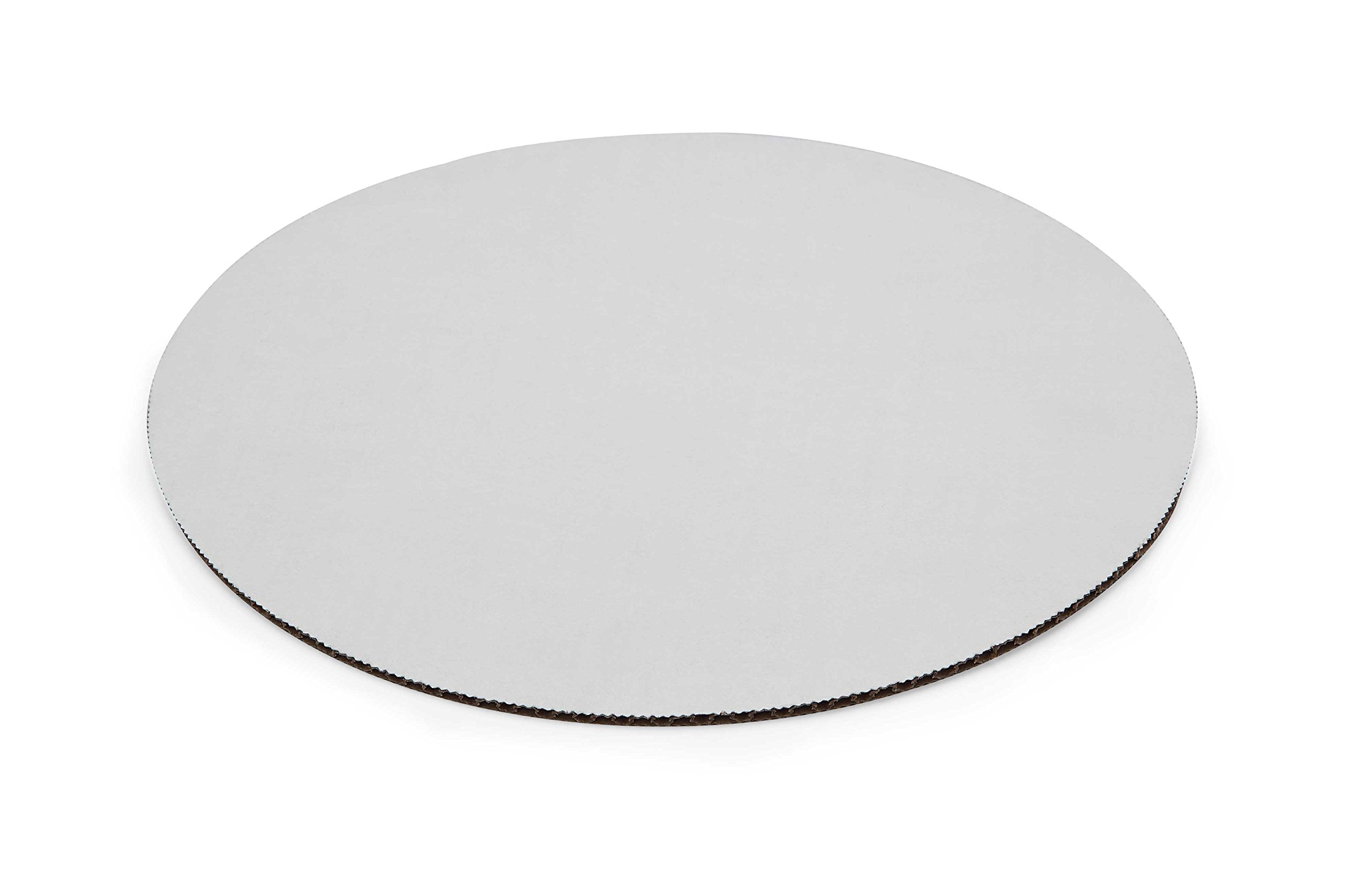W PACKAGING WPDWC14 14'' White/Kraft Double Wall Cake Circle, Non Grease Proof, Corrugated Paper Board (Pack of 50)