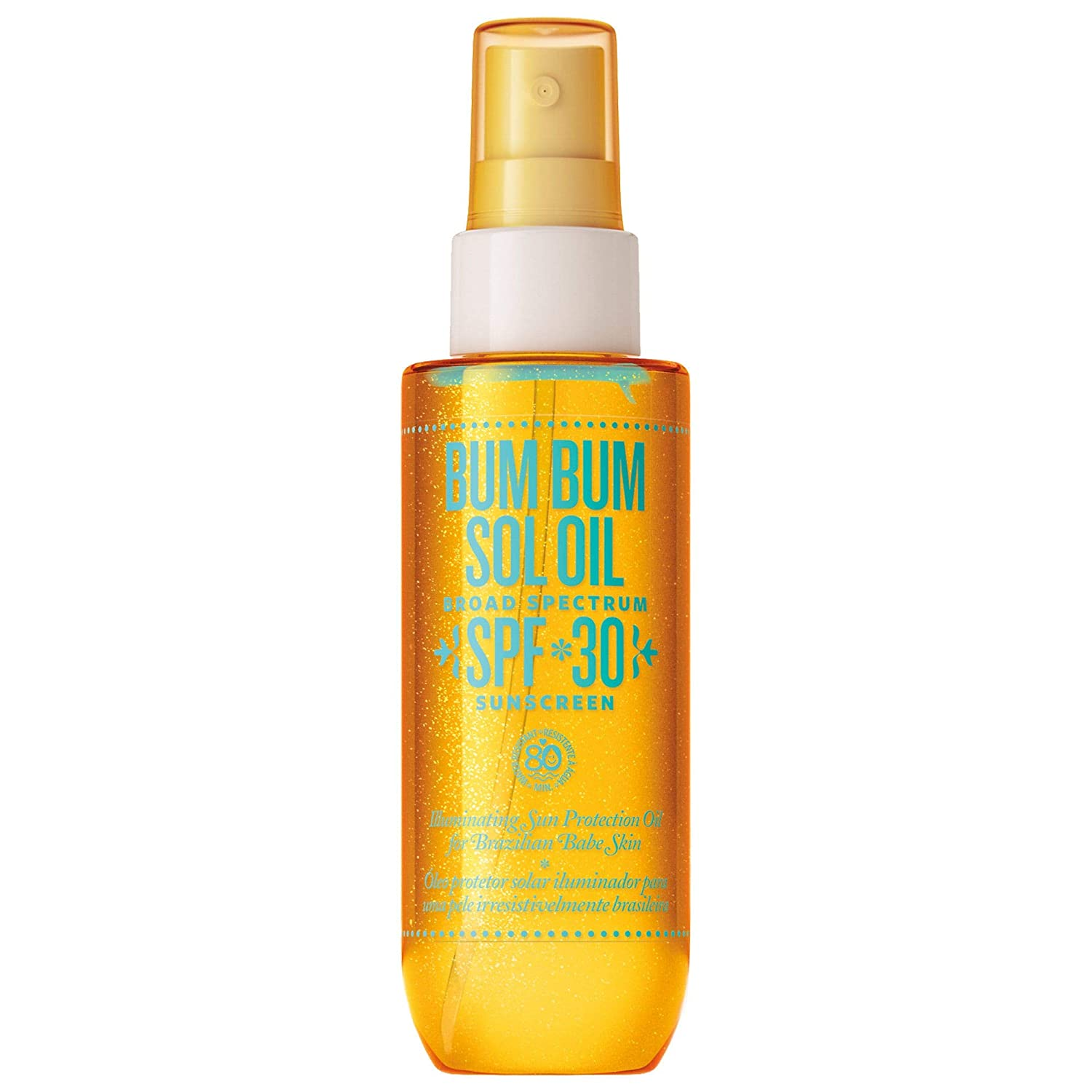 Bum Bum Sol Oil Sunscreen Broad Spectrum SPF 30, 3 Fl. Oz! Illuminating Sun Protection Oil for Brazilian Babe Skin! Nourish, Moisturize, And a Luxurious Touch of Rio Radiance!