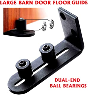 Amazon com: Barn Door Floor Bottom Guide Hardware | Quiet Adjustable