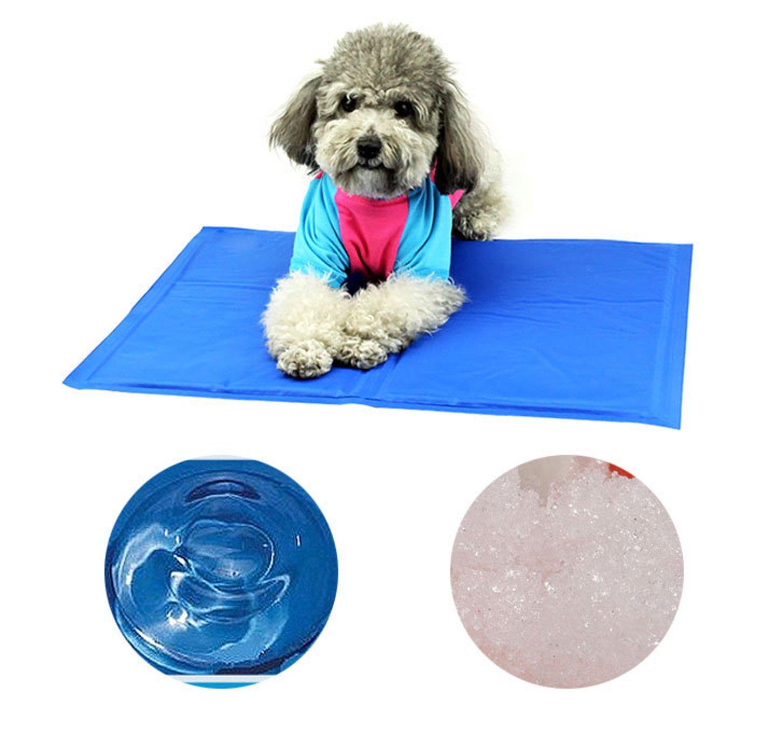 Finerolls Almohadilla Cama de perro y gato mascota Cojín gel fría para verano refrescante enfriamiento Esterilla refrigerante Manta de dormir 40 x 50 cm: ...