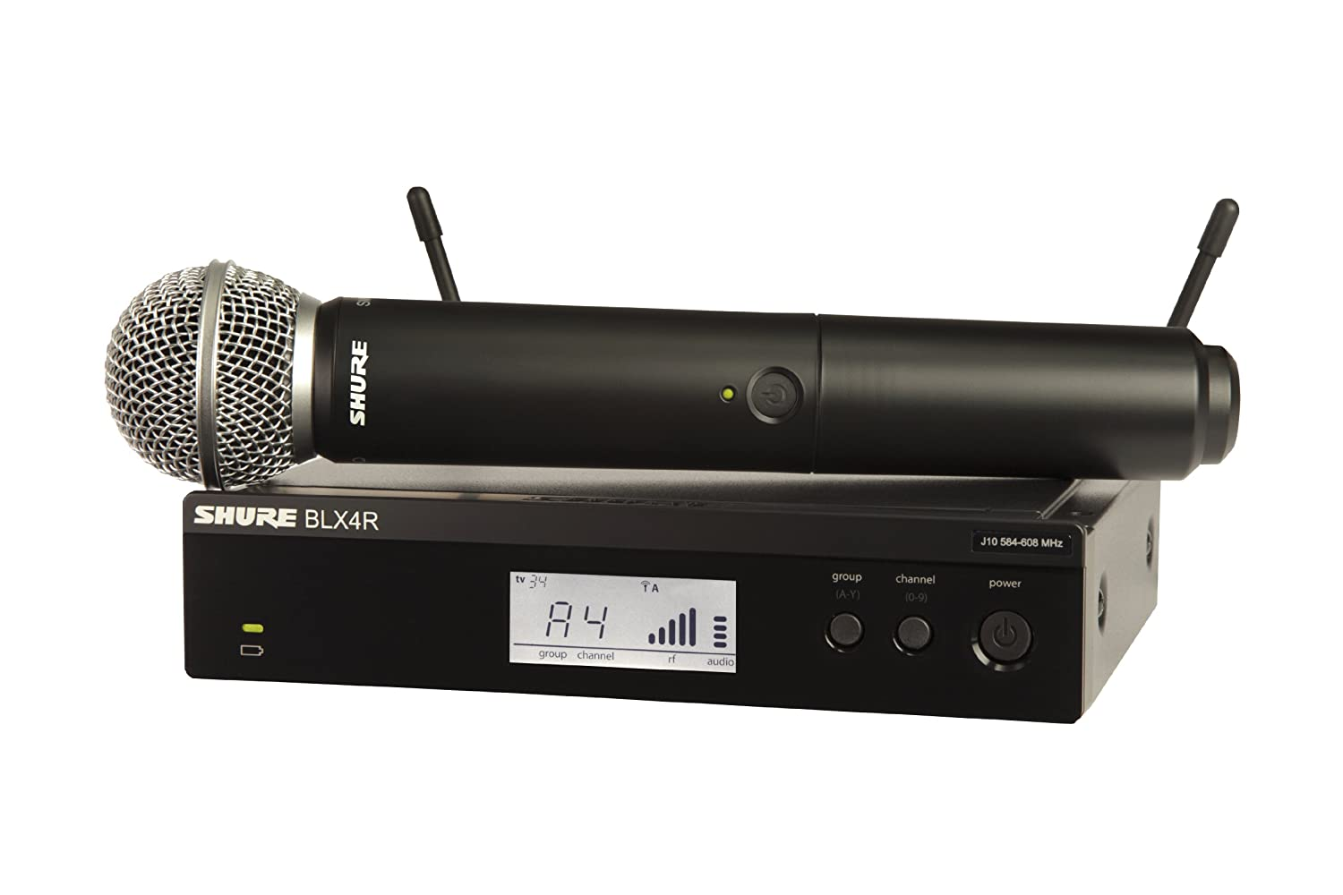 Amazon.com: Shure BLX24/SM58 Wireless Vocal System with SM58 Handheld Microphone, M15: Musical Instruments