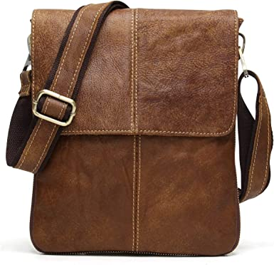 Womens Genuine Leather Shoulder Bag Office Casual Messenger Cross Body Brown Bag