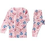 Apples & Pajamas Kids, Girls, Boys, Unisex 100% Cotton 2-Piece PJ Set