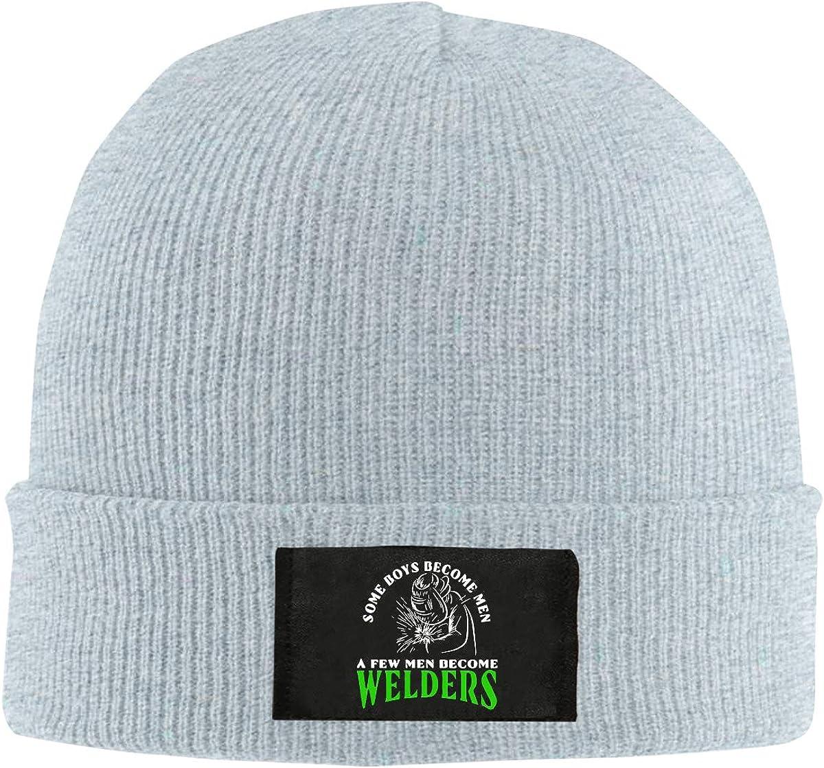 Some Boys Become Men Welder Skull Hat Beanie Cap Winter Knit Hat Cap Men Women Created Equal