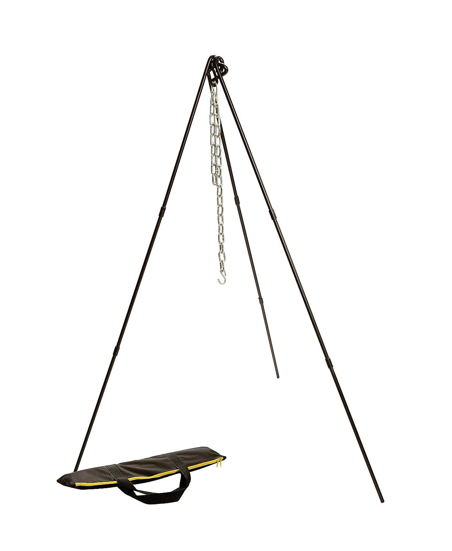 Lodge ATP2 Adjustable Camp Tripod, 40 to 60-Inch Tall Black