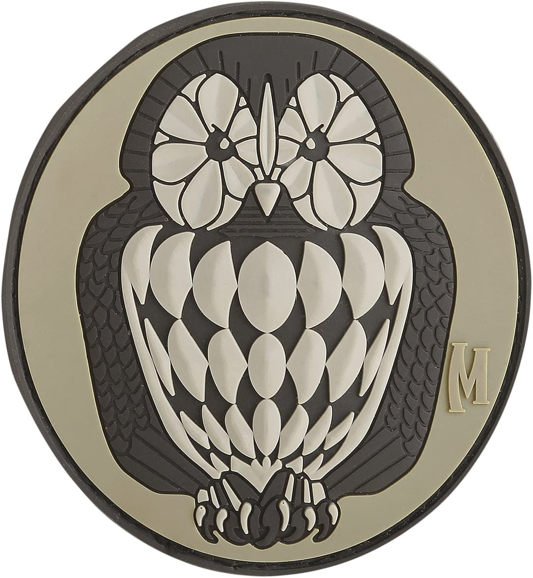 Morton HomeOwl Head PVC Patch Black