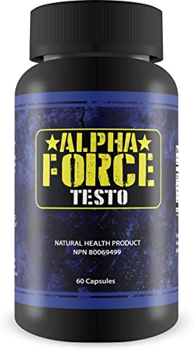 Alpha Force Testo-Anabolic Activator for Muscle Size and Recovery - Increases Natural Test Levels, Energy, Muscle Mass, and Accelerates Fat Loss 60 Capsules