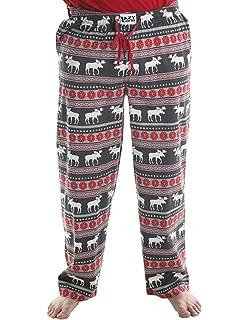 Women/'s pajama leggings Lazy One Striped with Moose Fair Isle CHOOSE SIZE