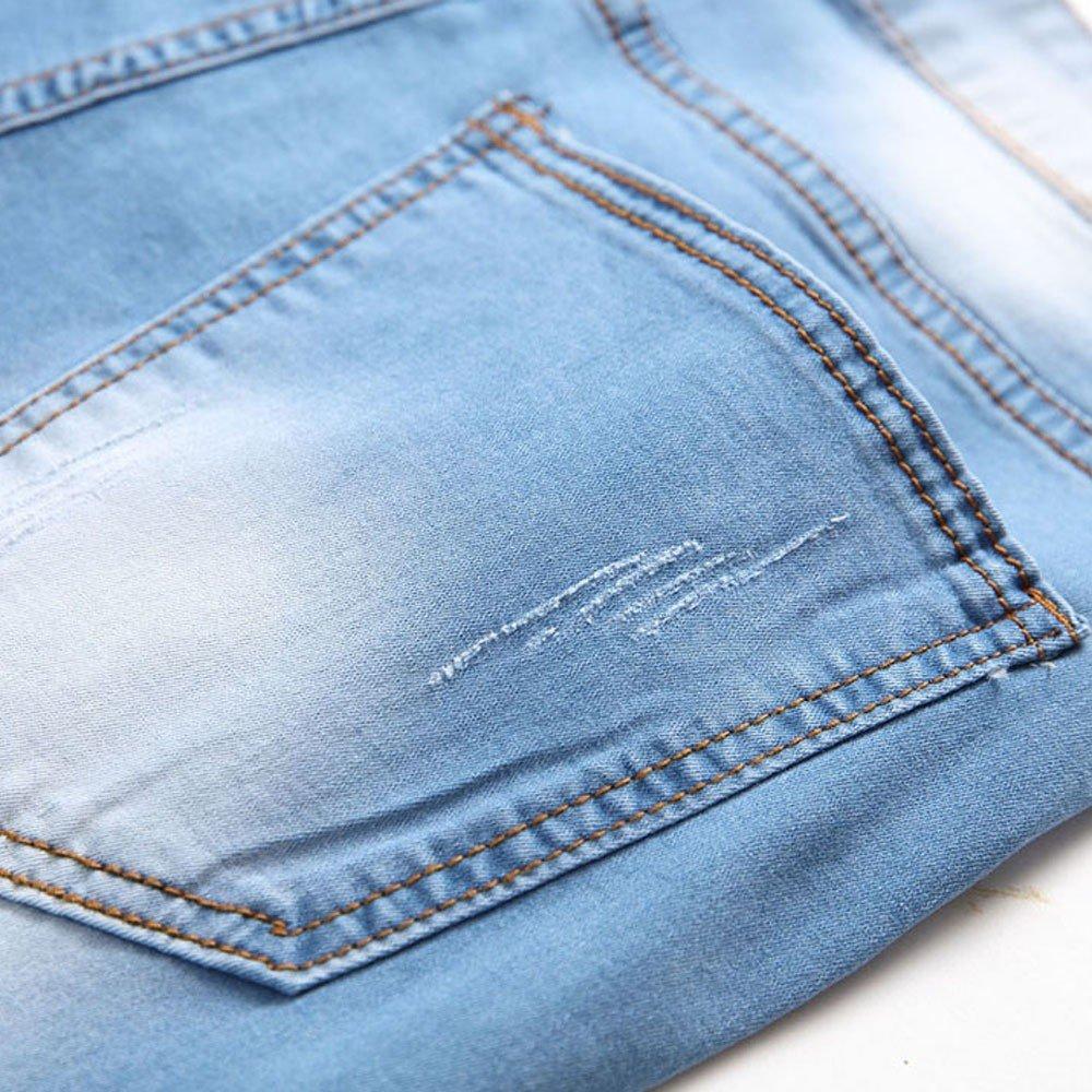17c7f7962c86 Strappati Jeans Casual Uomo Slim Fit LandFox Jeans Pantalone ...