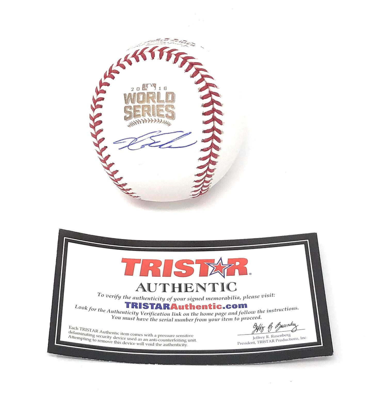 Kyle Schwarber Chicago Cubs Signed Autograph Official MLB World Series Baseball Tristar Authentic Certified
