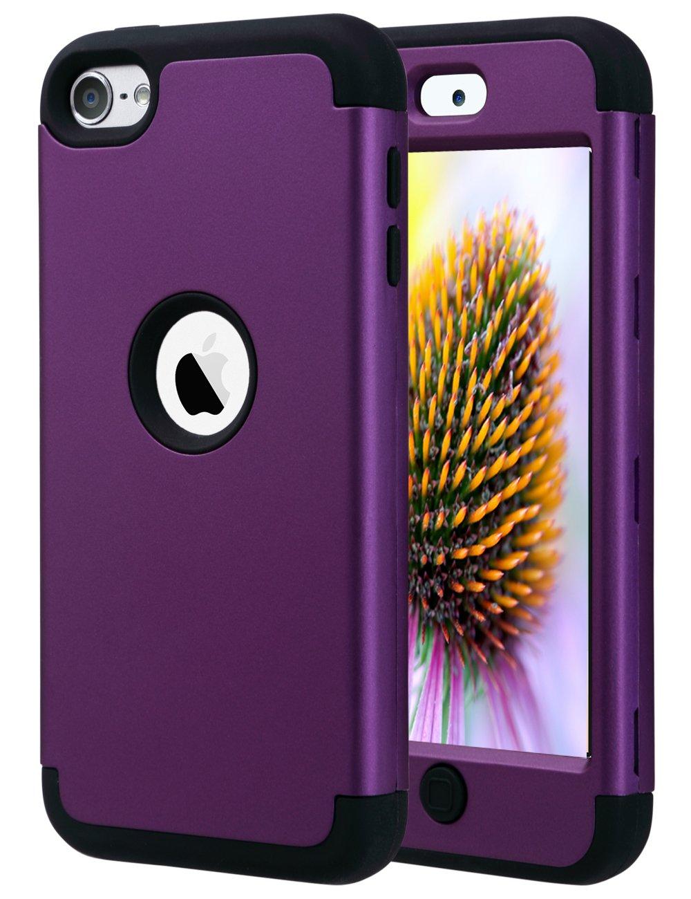 Funda Para iPod Touch 5, 6 Y 7 Generacion (violeta Y Negra)