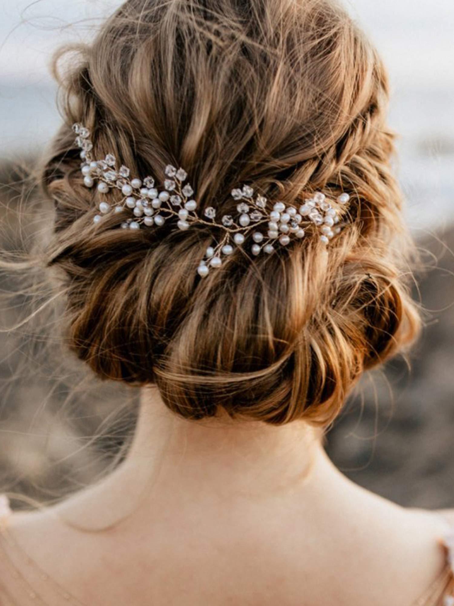 Amazon.com : FXmimior Bride Hair Accessories Crystal Hair