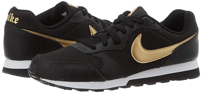 Nike MD Runner 2 VTB, Zapatillas de Trail Running para Mujer, Multicolor (Black/Metallic Gold/White 1), 35.5 EU: Amazon.es: Zapatos y complementos