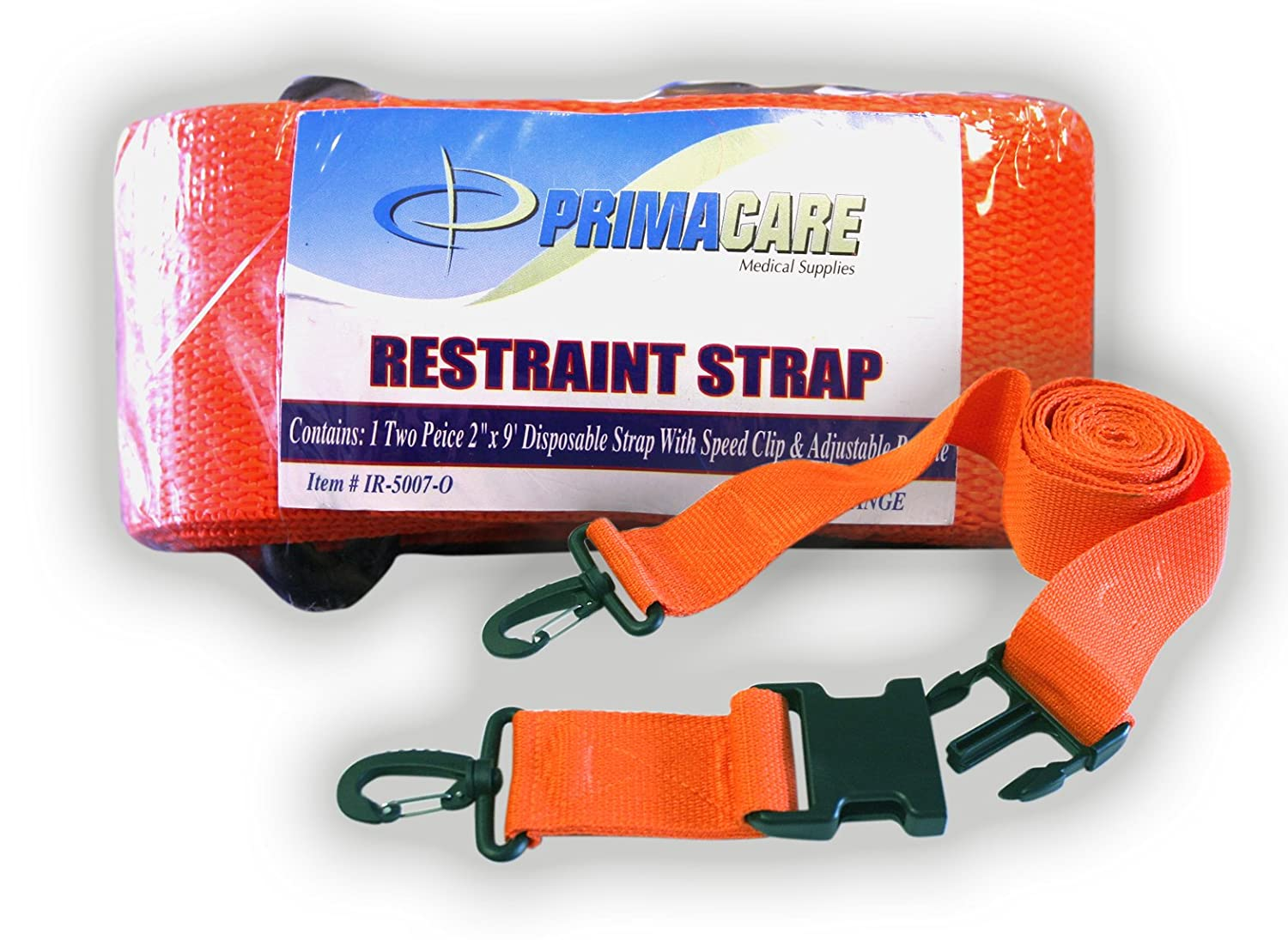 Primacare IR-5007 2 Piece Restraint Strap with Speed Clip 9 Length 9/' Length