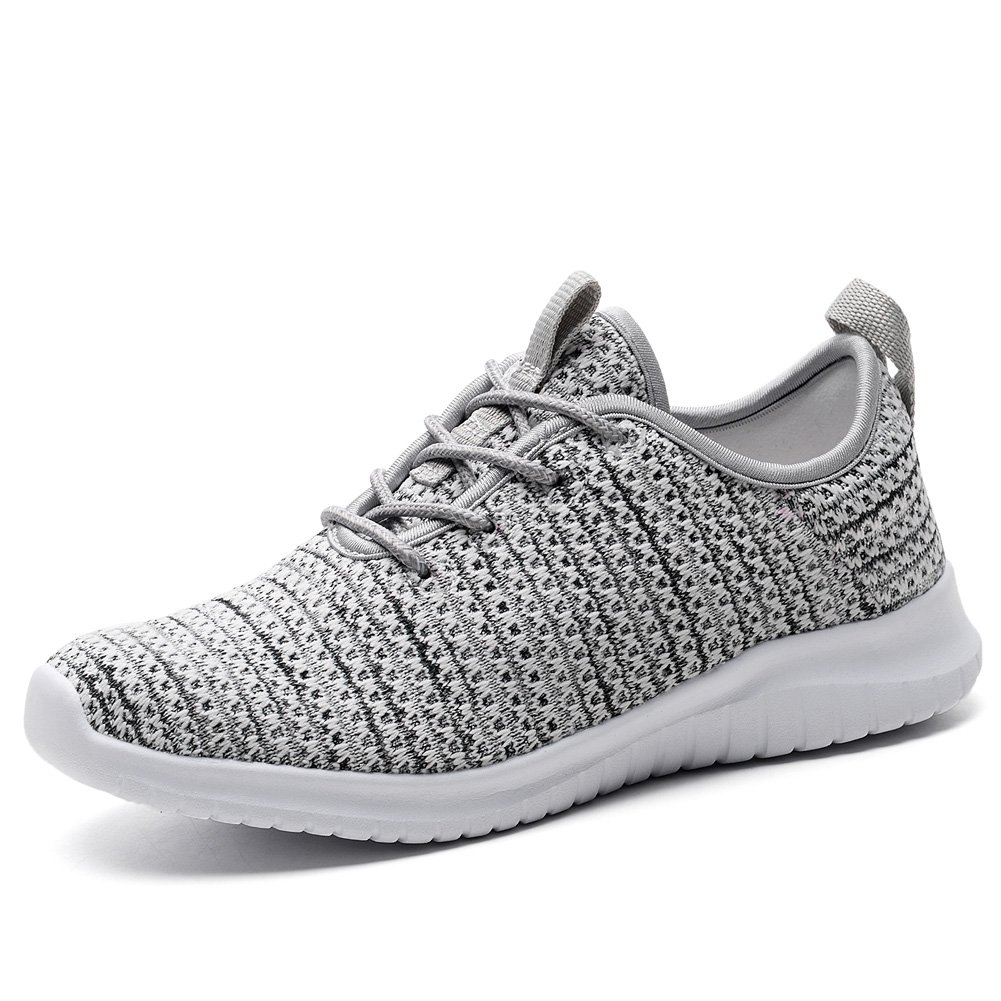 TIOSEBON Women's Athletic Walking Running Shoes Comfortable Lightweight Sneaker 8.5 US Gray