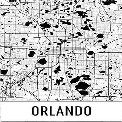 Street Map Orlando Fl Amazon.com: Orlando Poster, Orlando Art Print, Orlando Wall Art