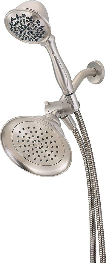 Ordinaire Delta 75615DSN Hand Shower/ Shower Head Combo Pack, Satin Nickel