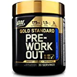 Optimum Nutrition Gold Standard Pre-Workout with Creatine, Beta-Alanine, and Caffeine for Energy, Flavor: Blueberry Lemonade,