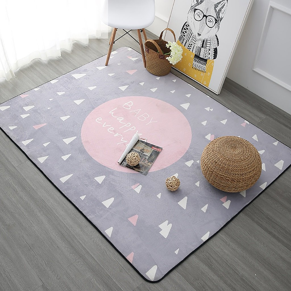 SESO UK- Nordic Modern weichen Teppich für Kinder Wohnzimmer Nachttisch - Dicke  1cm (Farbe   Pink, größe   190  280cm)