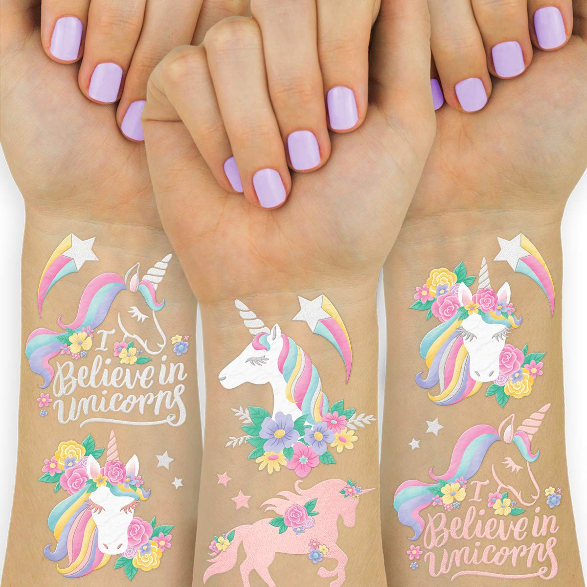 xo, Fetti Unicorn Party Favors - Temporary Tattoos for Kids - 26 styles | Birthday Party Supplies, Unicorn Favors Decorations, Toys + Halloween Costume