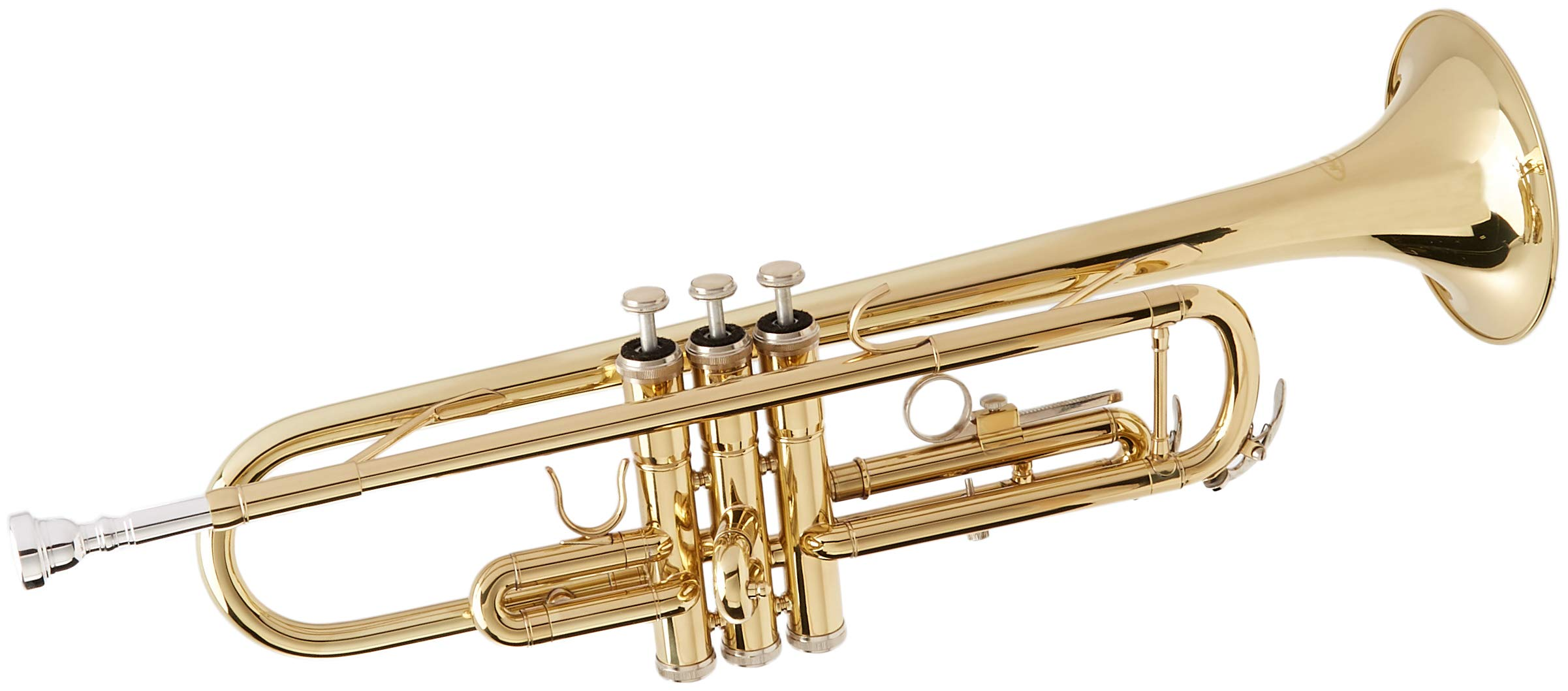 Merano ADP-65 JH B Flat GOLD/Silver Trumpet with Case+Mouth Piece+Valve Oil+Metro Tuner by Merano