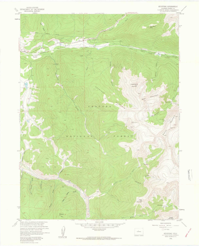 Amazon.com : YellowMaps Keystone CO topo map, 1:24000 Scale ...